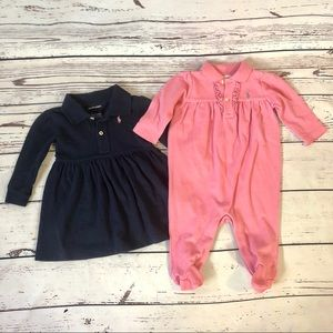 Lot of Baby Girl Ralph Lauren Dress and One Piece